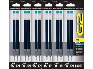 Value Pack of 6 - Pilot G2 Gel Ink Refills for Rolling Ball Pen, Fine Point, Teal (77257)