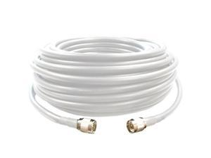 75' SureCall 400 Coaxial Cable with N-Male Connectors (White Seventy Five Feet Coax Cables)