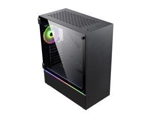 Kopplen K23 ATX Case w/ Tempered Glass + 1x 120mm RGB Fan & 1x LED Strip