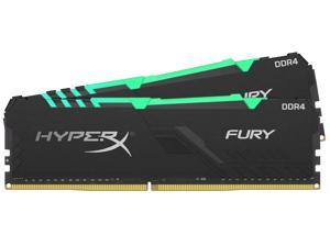 HyperX FURY RGB - DDR4 - kit - 16 GB: 2 x 8 GB - DIMM 288-pin - 3200 MHz / PC4-25600 - CL16 - 1.35 V - unbuffered - non-