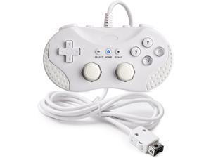 4 in 1, SAFFUN Classic Controller Compatible for Wii/Wii U/NES Classic Edition (NES Mini) / SNES Mini, Classic Console Gamepad Gaming Pad Joypad for Wii Wii U (White)