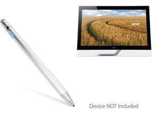 """Acer T272HUL (27"""") Stylus Pen, BoxWave [AccuPoint Active Stylus] Electronic Stylus with Ultra Fine Tip for Acer T272HUL (27"""") - Metallic Silver"""