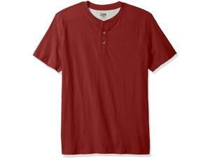 LEE Men's Henley Short Sleeve T-Shirt | Casual, Soft Breathable Cotton Tee | Regular Fit, Big and Tall