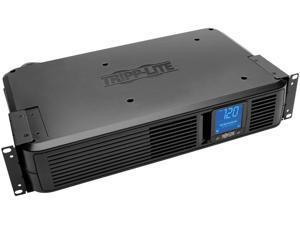 Tripp Lite 1200VA Smart UPS Battery Back Up, 700W Rack-Mount/Tower, 8 Outlets, LCD Display, AVR, USB, DB9 2URM, 3 Year Warranty & $250,000 Insurance (SMART1200LCD)