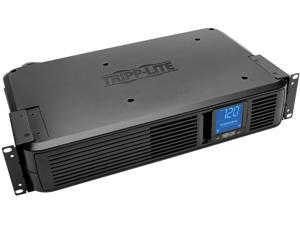 Tripp Lite SMART1500LCDXL 1500VA Smart UPS Back Up, 900W Rack-Mount/Tower, LCD, AVR, Extended Runtime Option, USB, DB9, 3 Year Warranty & Dollar 250,000 Insurance Black