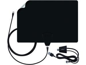 Antennas Direct ClearStream FLEX Amplified TV Antenna, 50+ Mile Range, UHF/VHF, Multi-Directional, Grips to Walls, USB In-Line Amplifier, 12 ft. Coaxial Cable, 4K Ready, Black/White/Paintable - FLEX