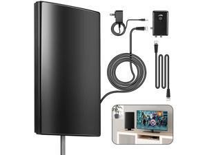HAPHOOD Amplified HD TV Antenna for Outdoor, 240Miles Range Support 4K 1080p Fire TV Stick & All Older TV's for Outdoor, Attic,Indoor, 31ft Coax Cable