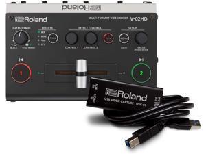 Roland V-02HD STR Video Switcher Web Streaming Bundle and UVC-01