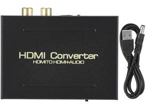 Nicoone HDMI Audio Extractor 1080P HDMI to HDMI+ Optical SPDIF+ Analog RCA L/ R Stereo Audio Video Splitter Converter for Blu- ray Player Xbox PS3 PS4 Support Full HD1080p 3D