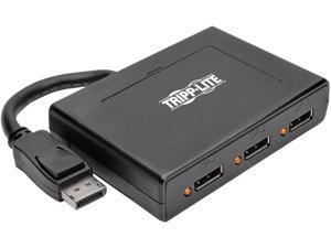 Tripp Lite 3-Port DisplayPort Multi-Stream Transport (MST) Hub, DP 1.2, 4K x 2K UHD (B156-003-V2), Black