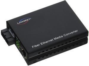 Linkskey 1000TX to 1000FX Single-Mode SC Fiber Converter (LKS-FCS32C-20)