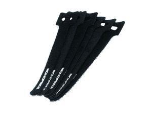 Monoprice Hook and Loop Fastening Cable Ties, 6in, 50 pcs/pack, Black