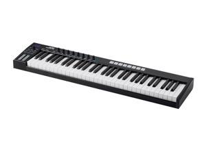 Monoprice SRK61 37 Key USB MIDI Keyboard Controller with 8 Velocity & Pressure Sensitive Pads, 8 Assignable Knobs, 5 MMC Buttons - Stage Right Series