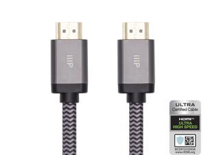 Monoprice 8K Certified Braided Ultra High Speed HDMI 2.1 Cable - 15 Feet - Black | 48Gbps, Compatible With Sony PS 5, PS 5 Digital Edition, Xbox Series X, and Xbox Series S