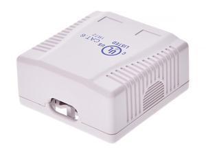 Monoprice 2-port Cat6 Surface Mount Box - White