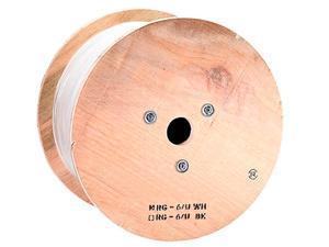 Monoprice 1000ft RG6 Quad Shield Coax Cable, PVC ETL, White CM/CL2