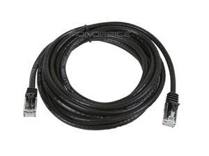 Monoprice Flexboot Cat6 Ethernet Patch Cable - Network Internet Cord - RJ45, Stranded, 550Mhz, UTP, Pure Bare Copper Wire, 24AWG, 10ft, Black