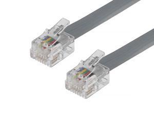 Monoprice Landline Telephone Cable - 7 Feet - RJ12(6P6C) Straight for Data