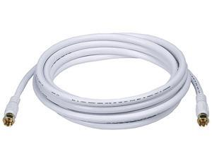Monoprice 10 ft. RG-6 Coaxial Cable, White; For Use With Video Equipment 6315
