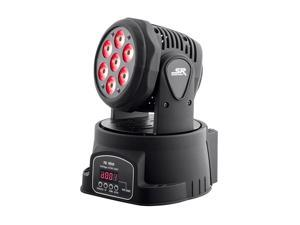 Monoprice Stage Wash Moving Head (RGBW)   10W, 7 x LED, 9-channel and 14-channel DMX-512 control options - Stage Right Series