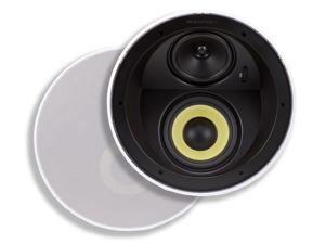 Monoprice 3 Way In-Ceiling Speakers - 6.5 Inches (Pair) With Concentric Mid/Highs, Aramid Fiber Cone Driver and Titanium Silk Dome Tweeters