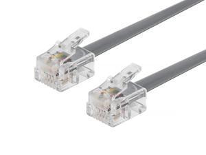 Monoprice Landline Telephone Cable - 7 Feet - RJ11(6P4C) Straight for Data