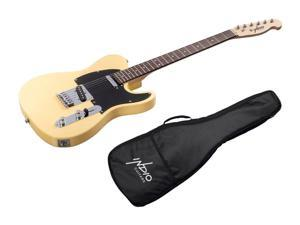 Monoprice Indio Retro Classic Electric Guitar - Blonde, With Gig Bag