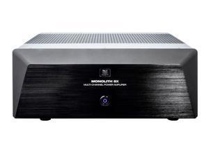 Monoprice Monolith Multi-Channel Power Amplifier - Black With 5x200 Watt Per Channel, XLR Inputs For Home Theater & Studio