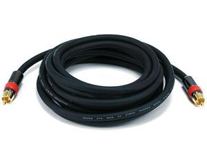 Monoprice 12ft High-quality Coaxial Audio/Video RCA CL2 Rated Cable - RG6/U 75ohm (for S/PDIF, Digital Coax, Subwoofer,