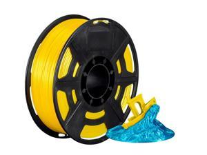 Monoprice Hi-Gloss 3D Printer Filament PLA 1.75mm - 1kg/spool - Yellow, Works With All PLA Compatible 3D Printers