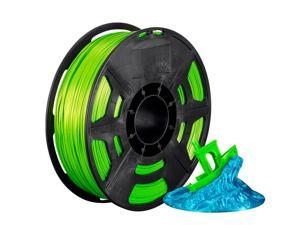 Monoprice Hi-Gloss 3D Printer Filament PLA 1.75mm - 1kg/spool - Pale Green, Works With All PLA Compatible 3D Printers