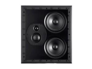 Monoprice Monolith THX-LCR THX Ultra Certified 3-Way LCR In-Wall Speaker, 1in Silk Dome Tweeter With Neodymium Magnet and Copper Shorting Ring, For Home Theater