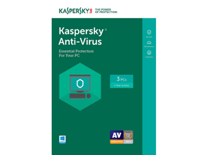 Kaspersky Antivirus 2018 1 Yr 3 Devices Windows Download Worldwide