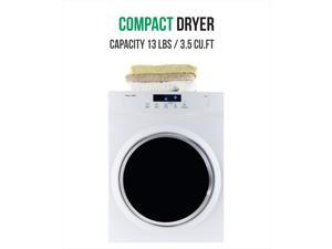 Equator 3.5 cu.ft. Compact Standard Dryer with Sensor Dry; White