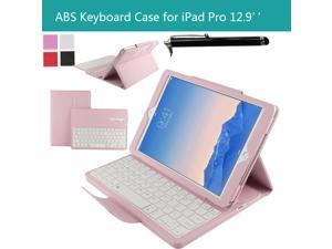 "For Apple iPad Pro 12.9"" Magnetically Detachable ABS Bluetooth Keyboard Portfolio Muti-angle Folio PU Leather Case Smart Cover Xmas Gift"