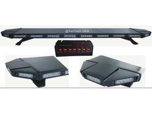 "Black Hawk 49"" 88 LED Light Bar Emergency Warning Beacon Roof Top Strobe Amber for Truck Tow Wrecker"