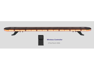 """48"""" Amber LED Emergency Strobe Lightbar 1 Inch Super Thin w/ Wireless Controller for Tow Truck Plow EMS Police Car Wrecker"""