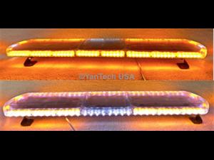 "47"" Super Thin Emergency Strobe Warning LED Light Bar w/ Double Rows LEDs - Top Row 114 LEDs and Bottom 76 LEDs"