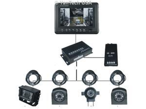 """7"""" QUAD HD Monitor IR Night Vision Rear View Back up Camera System for RV Truck Trailer Bus or Fifth-Wheel. -YanTech USA"""