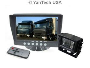 """7"""" Color Rear View Backup Camera System with 120° CCD Night Vision, up to 2 Video inputs, 32 ft Cable with Weatherproof 4-Pin Connectors - YanTech USA"""