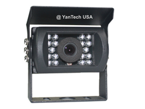 Surface Mount Infrared CCD AV Rear View Backup Camera with Wide View Angle and Night Vision for Bus, RV, Truck,