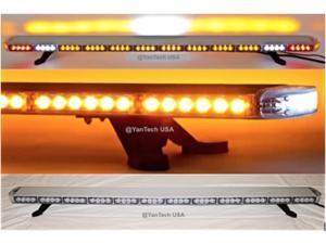 "60"" Amber LED Light Bar Flashing Warning Tow/Plow Truck Wrecker Emergency Light with Brake/Cargo Lights"