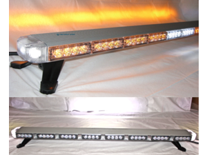 "47"" Amber LED Light Bar Flashing Warning Tow/Plow Truck Wrecker Emergency Light with Brake Lights"