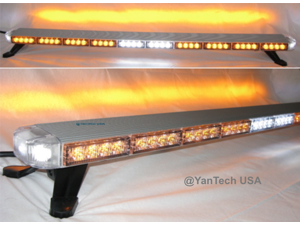 """50"""" Amber LED Light Bar Flashing Warning Tow/Plow Truck Wrecker Emergency Light 86 LEDs with Brake/Tail/Signal Lights and Mini Controller"""