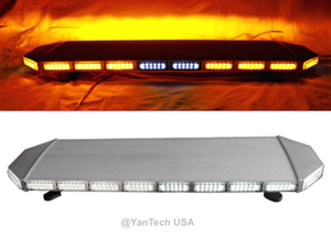"47"" 132 LED EMERGENCY BEACON LIGHT BAR WARNING TRUCK TOW WRECKER STROBE AMBER"