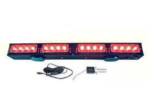 """21.5"""" Wireless LED Tow Light Bar with Red Stop/Tail/Turn Signal LEDs, High Power Magnetic Base and 4pin Round Transmitter"""