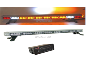 "50"" Amber LED Light Bar Flashing Warning Tow/Plow Truck Wrecker Emergency Light with Brake/Cargo Lights"