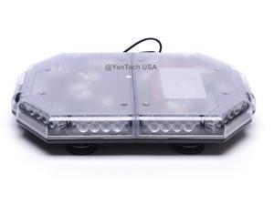 "18"" Rooftop Strobe Mini LED Light Bar Emergency Warning Light w/ Magnetic Base 40LEDs"