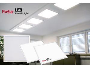 Five Star LED Ceiling Light Flat Panel Edge-Lit Super Bright Ultra Thin Glare-Free Light UL Listed 2 x 2 Ft 43W(200W Equivalent),6000K 3800 Lumen  (2x2, DayLight White)