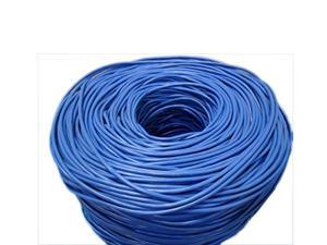 FiveStar 1000 Ft. Cable ETL Listed Cat5E UTP Solid Copper PVC CMR-Rated Cable - Blue